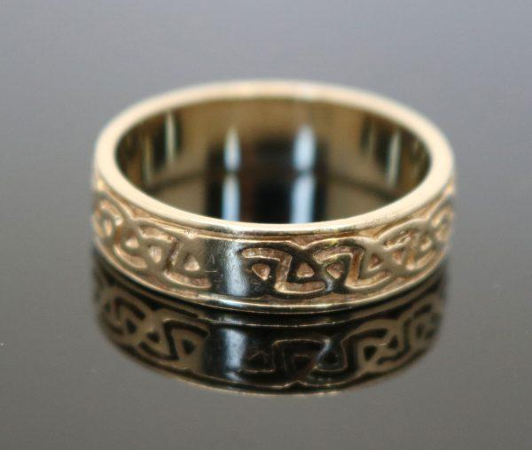 9ct Gold Irish Celtic Design Ring